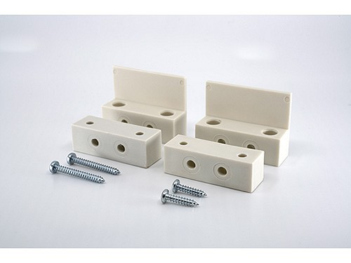 Thitronik 100729 Montageadapter weiß (2er)