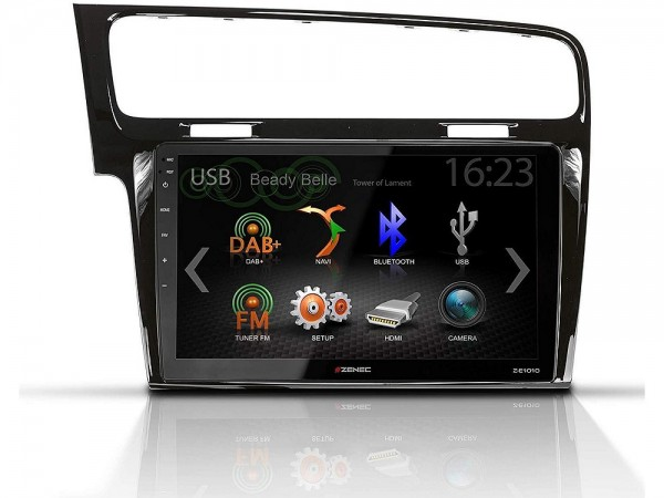 Zenec Z-E1010 + Z-F2021 Core-Infotainer für Golf 7 in schwarz