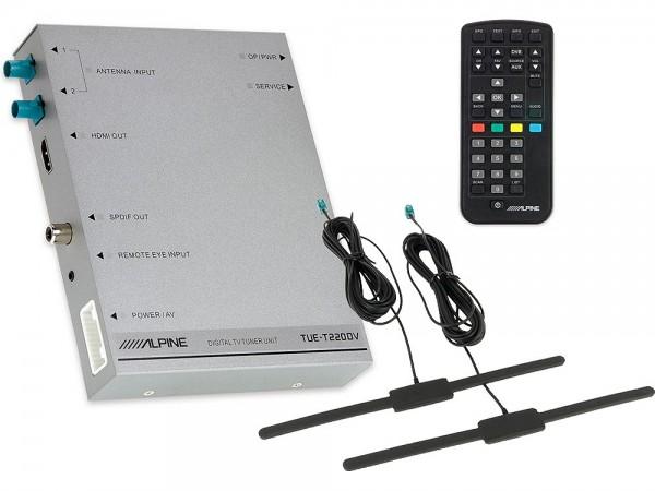 Alpine TUE-T220DV DVBT2-Empfänger inkl. Antennen