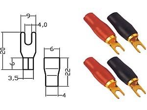 Gabelkabelschuh 4-6mm² Ø 4mm 2 Stk. 152.140-0