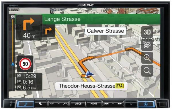 "Alpine X803D-U Multimedia-Navigation 8""-Display"